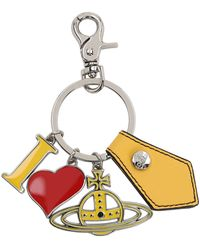 Vivienne Westwood Alex I Love Orb Key Holder - Yellow