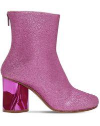 Maison Margiela 80mm Glittered Sock Ankle Boots - Lila