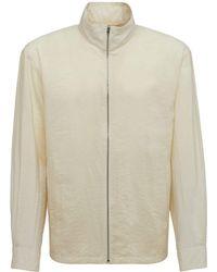 Lemaire シルク&メッシュジップアップジャケット - ホワイト
