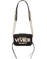 """Roger Vivier Sac En Cuir Et Toile """"très Vivier"""" - Noir"""