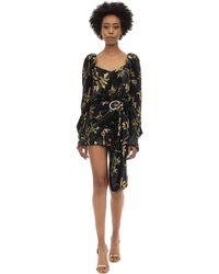 Dodo Bar Or - Draped Buckle Velvet Jacquard Mini Dress - Lyst