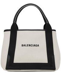 """Balenciaga Borsa Piccola """"navy"""" In Tela - Nero"""