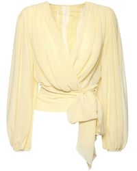 Dolce & Gabbana Рубашка Из Прозрачного Шёлкового Шифона - Желтый