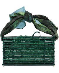 Montunas Vanda Acetate Shoulder Bag W/ - Green