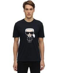 Karl Lagerfeld K.l. コットンジャージーtシャツ - ブルー