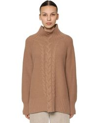 Max Mara Wool & Cashmere Cable Knit Sweater - Brown