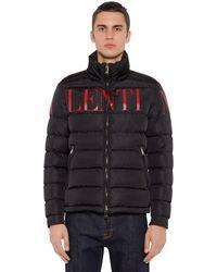 Valentino Куртка На Пуху С Капюшоном - Черный