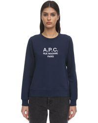 A.P.C. ネイビー Tina スウェットシャツ - ブルー