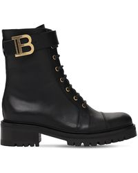 Balmain Кожаные Ботинки-комбат 25mm - Черный