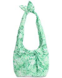 Ganni Handtasche Aus Nylon - Grün