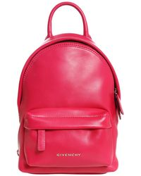 Givenchy Pink Nano Leather Backpack in Pink - Lyst 64cc90bd99f08