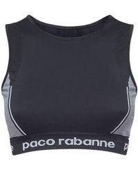 Paco Rabanne テクニカルジャージー クロップトップ - ブラック