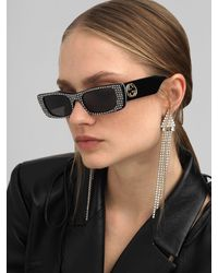 Gucci Embellished Squared Acetate Sunglasses - Mehrfarbig