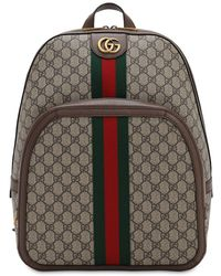 "Gucci Rucksack Aus Gg Supreme-stoff ""ophidia"" - Natur"