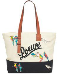 Loewe Parrots キャンバストートバッグ - マルチカラー