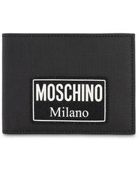 Moschino ロゴウォレット - ブラック