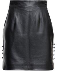 Matériel エコレザーミニスカート - ブラック
