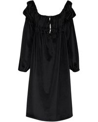 Acheval Pampa Antonia Velvet Midi Dress - Black
