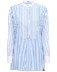 Loewe オーバーサイズコットンチュニックシャツ - ブルー