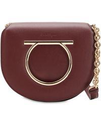 Ferragamo - Medium Vela Leather Shoulder Bag - Lyst