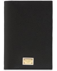 Dolce & Gabbana Dauphine Dg レザーパスポートケース - ブラック