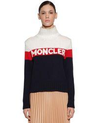 Moncler - トリコロール ロゴ セーター - Lyst