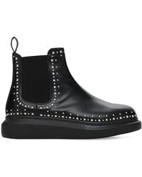 "Alexander McQueen - Кожаные Ботинки ""hybrid"" 45мм - Lyst"