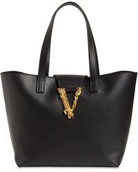 Versace Сумка Virtus Из Кожи - Черный