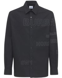 Burberry Tennyson コットンポプリンシャツ - ブラック