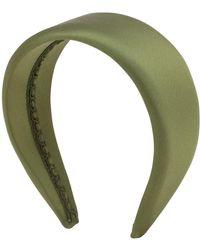 Ca&Lou Anastasia Satin Silk Headband - Green