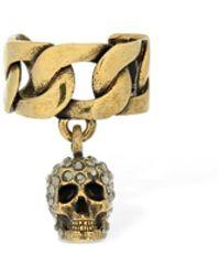 Alexander McQueen - Skull シングルイヤーカフ - Lyst