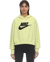 Nike コットンブレンドスウェットフーディ - イエロー