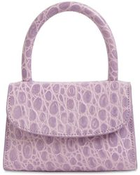 BY FAR - Mini Croc Embossed Leather Bag - Lyst