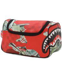 Sprayground Panic Attack Toiletry Bag - Red