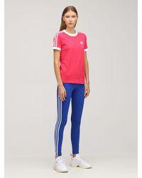 adidas Originals 3 Stripes コットンtシャツ - ピンク