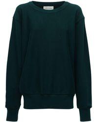 Les Tien クロップドコットンスウェットシャツ - グリーン