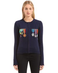 Stella Jean - Embellished Zip Up Wool Knit Jumper - Lyst