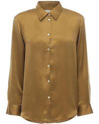 Asceno - Пижамная Рубашка Из Шелкового Атласа The London - Lyst