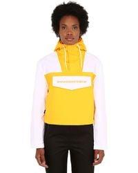 Napapijri Rainforest Cropped Pullover Jacket - Yellow