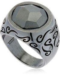 Marco Dal Maso - Ara Engraved Silver Ring W/ Stone - Lyst