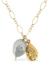 Alighieri Solitary Tear At Dusk Necklace - Metallic