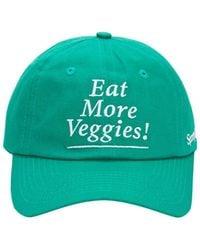 """Sporty & Rich Casquette En Coton """"eat Veggies"""" - Vert"""