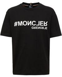 3 MONCLER GRENOBLE コットンジャージーtシャツ - ブラック