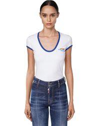 DSquared² - ロゴコットンジャージーtシャツ - Lyst