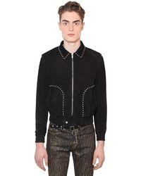 Saint Laurent スエードジャケット - ブラック