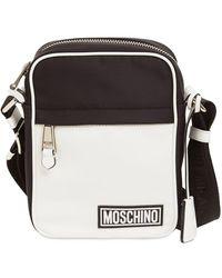 Moschino Logo Rubber Label Crossbody Bag - Black