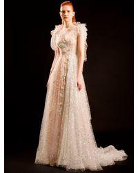 Sandra Mansour Lily Embellished Techno Dress - マルチカラー
