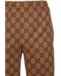 Gucci Trainingshose Aus Baumwolljersey - Braun