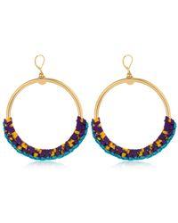 Missoni - Iconic Chain Braided Hoop Earrings - Lyst