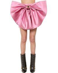 Fausto Puglisi Detachable Duchesse Bow Mini Skirt - Pink